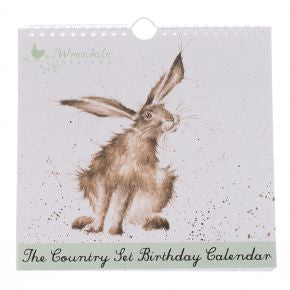 Wrendale Designs Hare Birthday Calendar - BC001