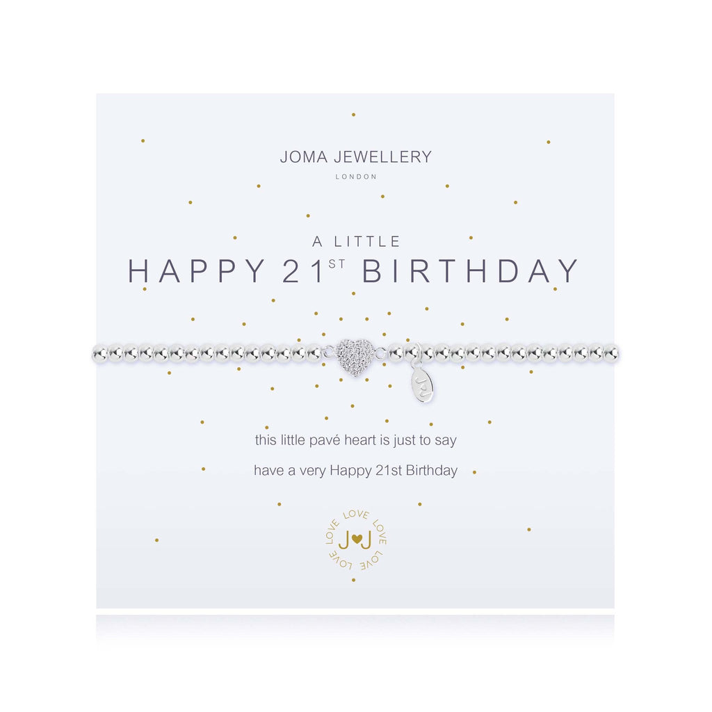 Joma Jewellery - A Little Happy 21st Bracelet 1220 | Two Spotty Dogs