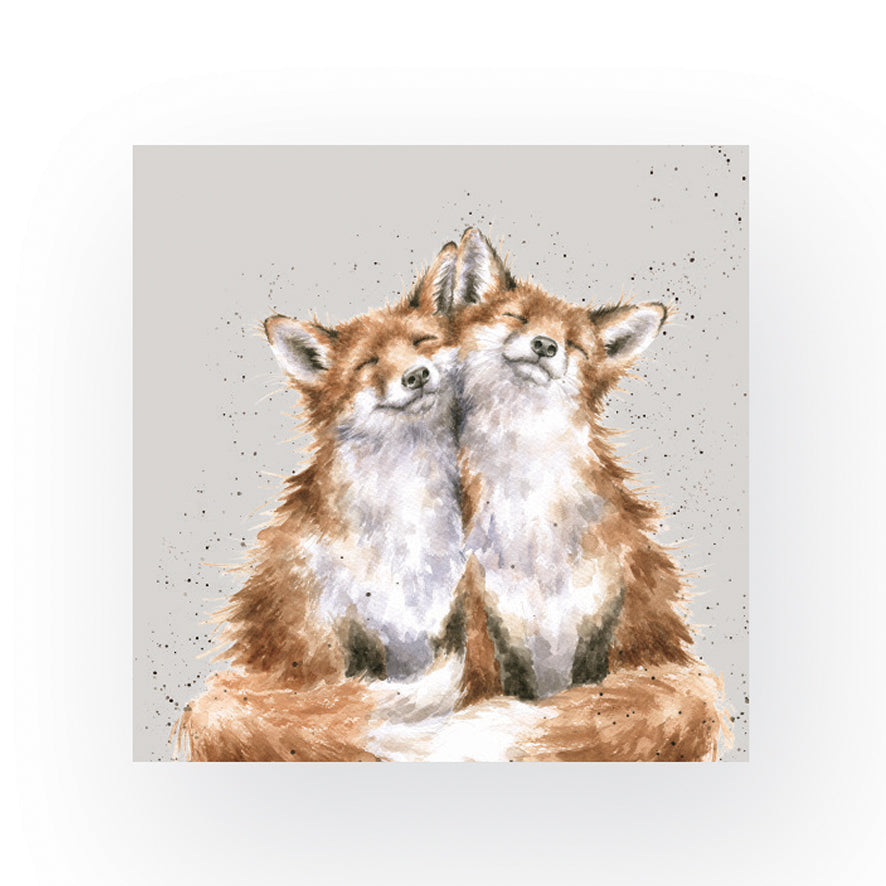 Contentment Foxes Napkins by Wrendale Designs