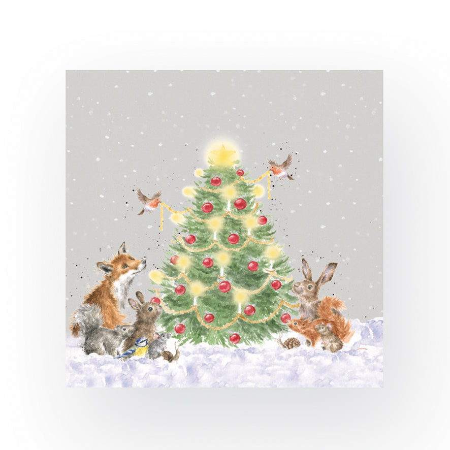 Oh Christmas Tree Woodland Animals Napkins by Wrendale Designs