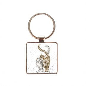 Feline Good (Cat) Keyring by Wrendale Designs