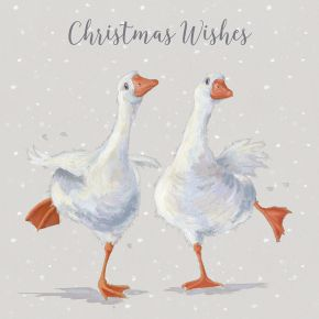 Luxury Boxed Cards - Dancing on Ice (Geese) by Wrendale Designs