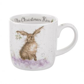 The Christmas Kiss Hare Mug by Wrendale Designs