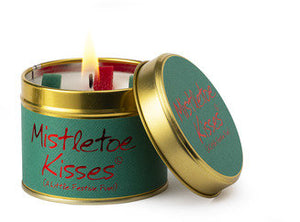 Mistletoe Kisses Tinned Candle by Lily-Flame