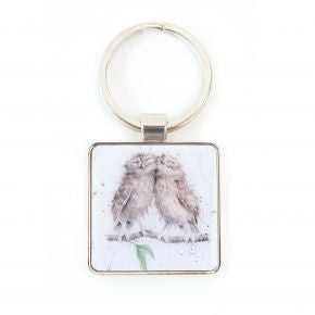 Birds of a Feather Keyring - by Hannah Dale - Wrendale Designs -Owls
