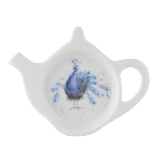 Practically Perfect Peacock Teabag Tidy By Hannah Dale - Wrendale Designs