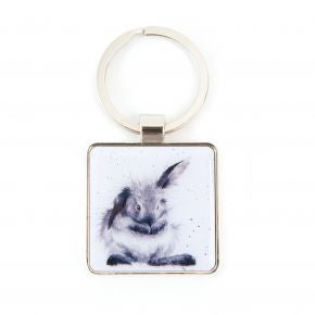 Bathtime - Rabbit Keyring by Wrendale Designs