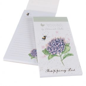 Bee And Hydrangea Shopping Pad by Wrendale Designs