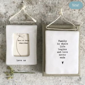 Mini Hanging Frame - Love Us by East of India 6615