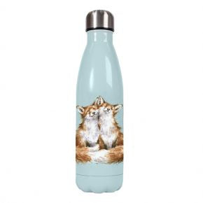 Contentment Fox Water Bottle by Wrendale Designs