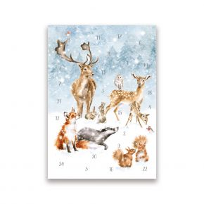 A Winter Wonderland Advent Calendar Card by Wrendale Designs