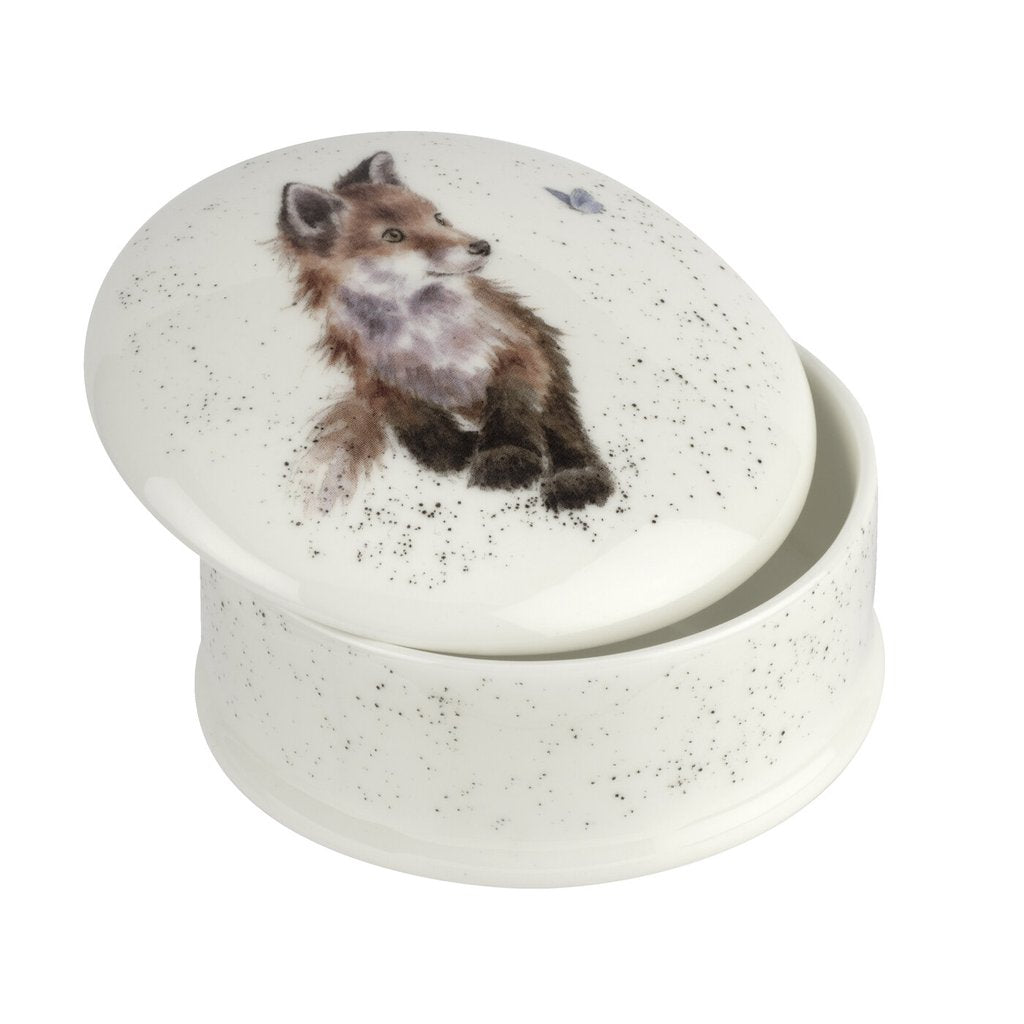 Born to be Wild Fox Lidded Box by Wrendale Designs