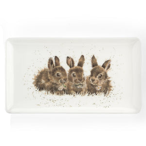 Rabbits Rectangular Tray by Wrendale Designs