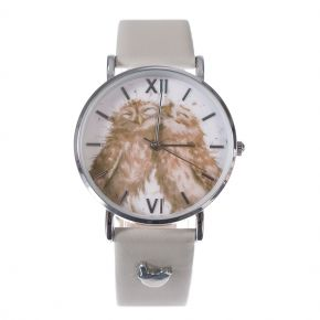 Birds of a Feather Owl Leather  Watch by Wrendale Designs