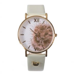 Awakening Hedgehog Leather Watch by Wrendale Designs