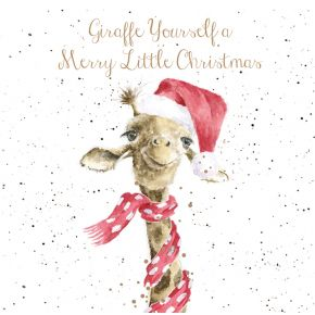 Giraffe Yourself a Merry Little Christmas Card Box Set by Wrendale Designs