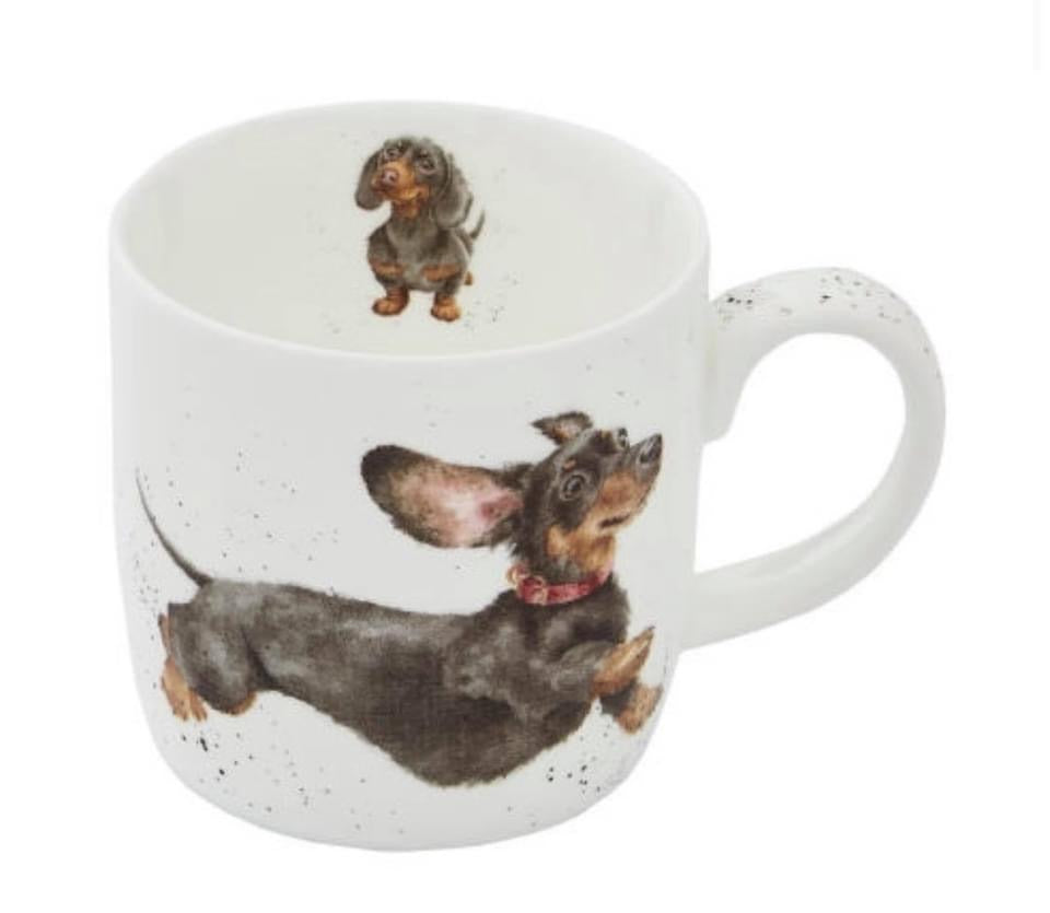 CopRoyal Worcester Wrendale Designs Friday Feeling  Daschund  Mug