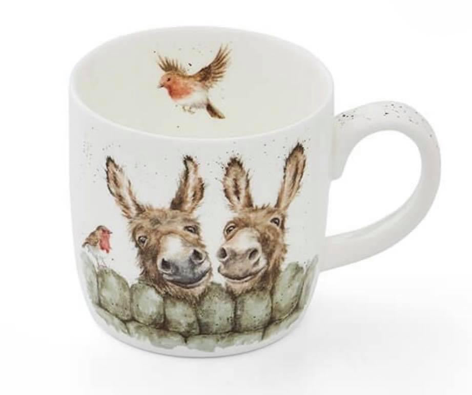 "Wrendale Designs Royal Worcester Mug "" Hee Haw Donkey"