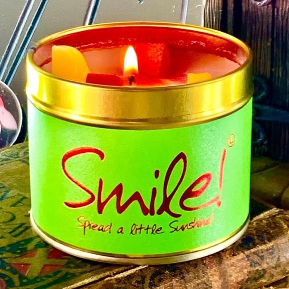 Smile Scented Tinned Candle by Lily Flame
