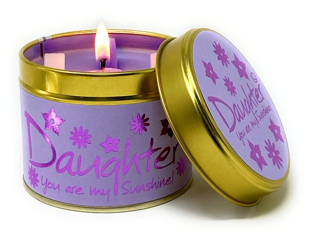 Daughter Tinned Candle by Lily-Flame