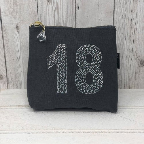 Grey Rhinestone 18th Birthday Bag by Love The Links  - 30% off NOW ONLY 10.50