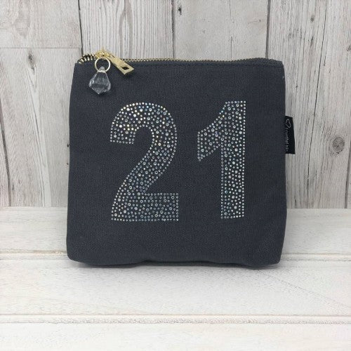 Grey Rhinestone 21st Birthday Bag by Love The Links  - 30% off NOW ONLY 10.50