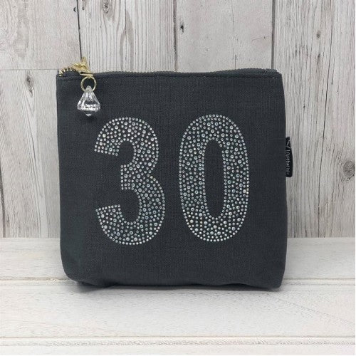 Grey Rhinestone 30th Birthday Bag by Love The Links  - 30% off NOW ONLY 10.50