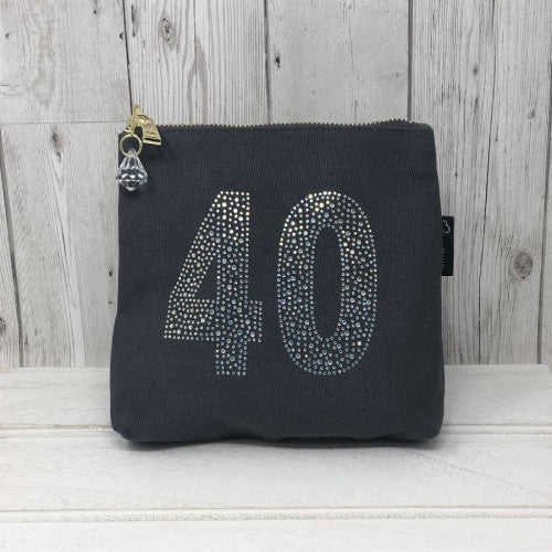 Grey Rhinestone 40th Birthday Bag by Love The Links  - 30% off NOW ONLY 10.50