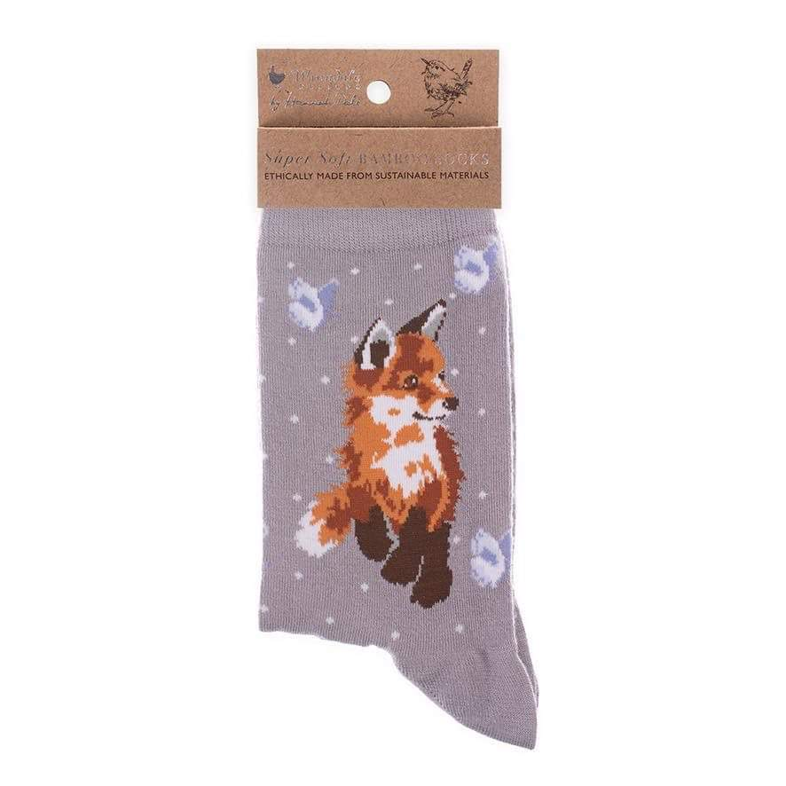Fox Socks - Born To Be Wild by Wrendale Designs