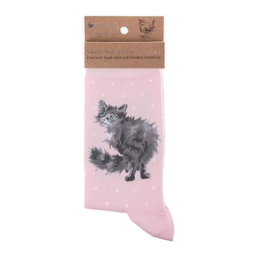 Cat Socks - Glamour Puss by Wrendale Designs