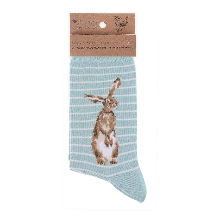 Hare Socks - Hare and the Bee by Wrendale Designs
