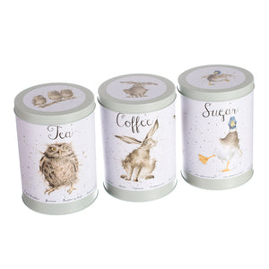 Green Tea Coffee and Sugar Canister's by Wrendale Designs