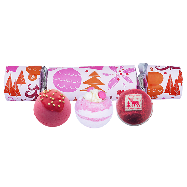 We Wish You a Rosy Christmas Cracker by Bomb Cosmetics