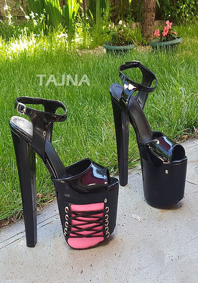 Black and Pink Burlesque Platforms - Tajna Club