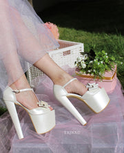 Butterfly Platform Wedding Shoes - Tajna Club