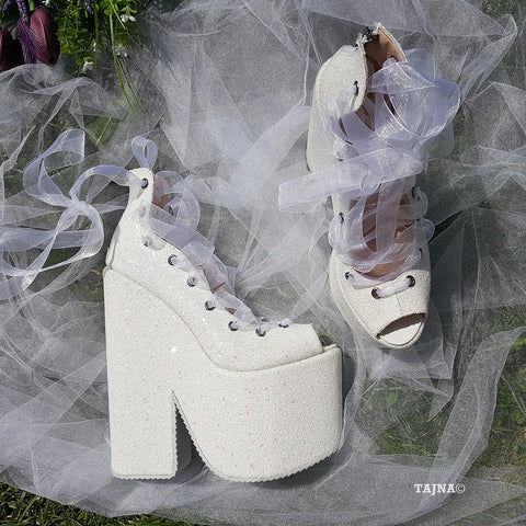 Lace up Ballerina Wedges 22 cm - Tajna Club