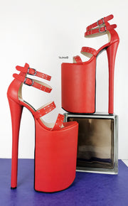 Red Pins 25-30 cm Extreme High Heel Platforms - Tajna Club