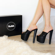 20 cm Black Platform Sandals - Tajna Club