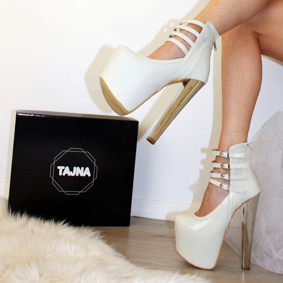 Four Strapped High Heel Platforms - Tajna Club