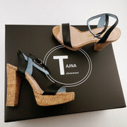 Black Single Strap Sandals - Tajna Club