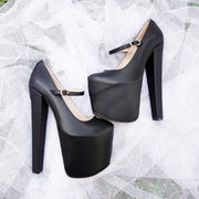 Mary Jane Black Platform Shoes - Tajna Club