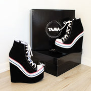 Sport Style Platform High Heels Shoes - Tajna Club