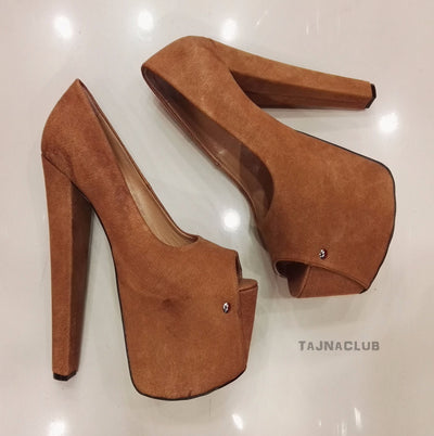 Ginger Peep toe Platform High Heels - Tajna Club