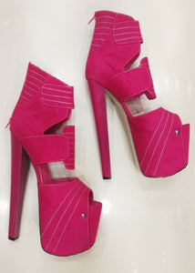 Pink Peep toe Stylish Platform High Heels - Tajna Club