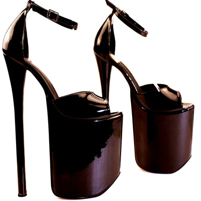 30 cm Super High Heel Platforms Black - Tajna Club