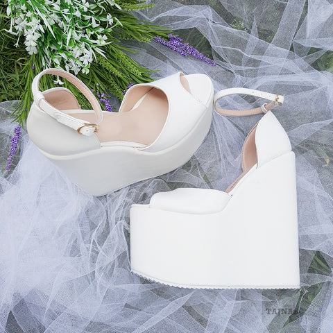 18-22 cm Super High Heel Wedding Shoes Wedges - Tajna Club