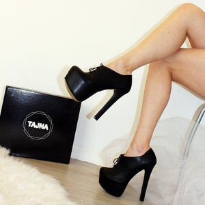 Black Ankle Oxford Platform - Tajna Club