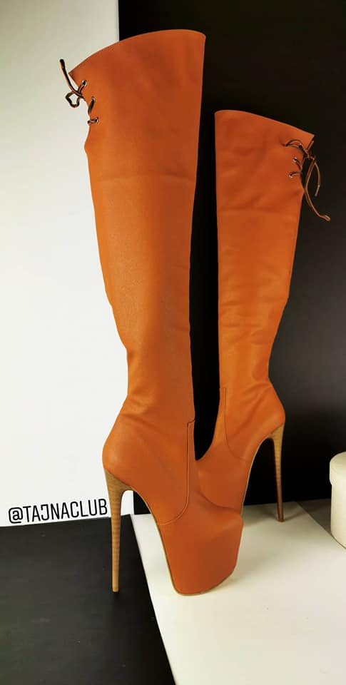 Chestnut Tobacco Brown Knee High Boots - Tajna Club