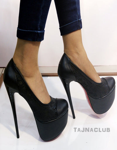 Super High Heel Black Pumps - Tajna Club