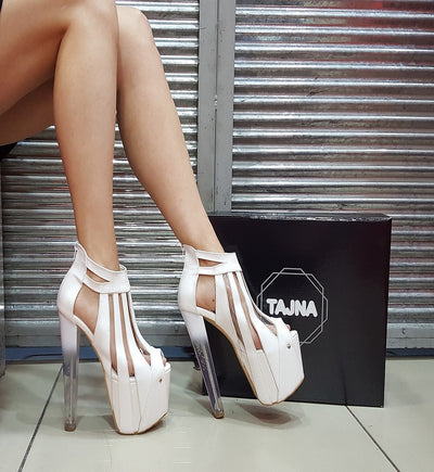 Transparent Detail Designer Platform Shoes - Tajna Club